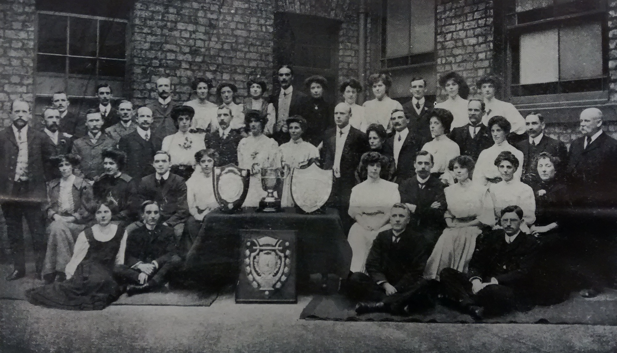 Centenary Wesleyan Church, St Saviourgate (now known as Central Methodist Church). Choir photograph taken in 1907. Matthew Rymer (organist) is shown.
