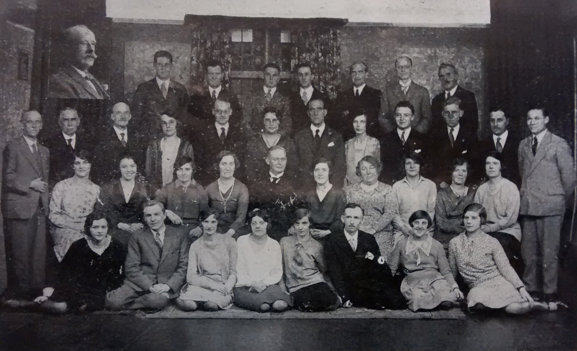 Centenary Wesleyan Church, St Saviourgate (now known as Central Methodist Church). Choir photograph taken in 1929.