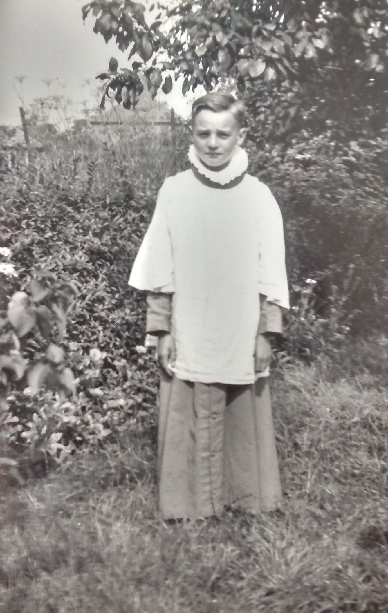 Chorister (Chris Poole) from the choir of Holy Trinity Church. Photograph taken c. 1935.
