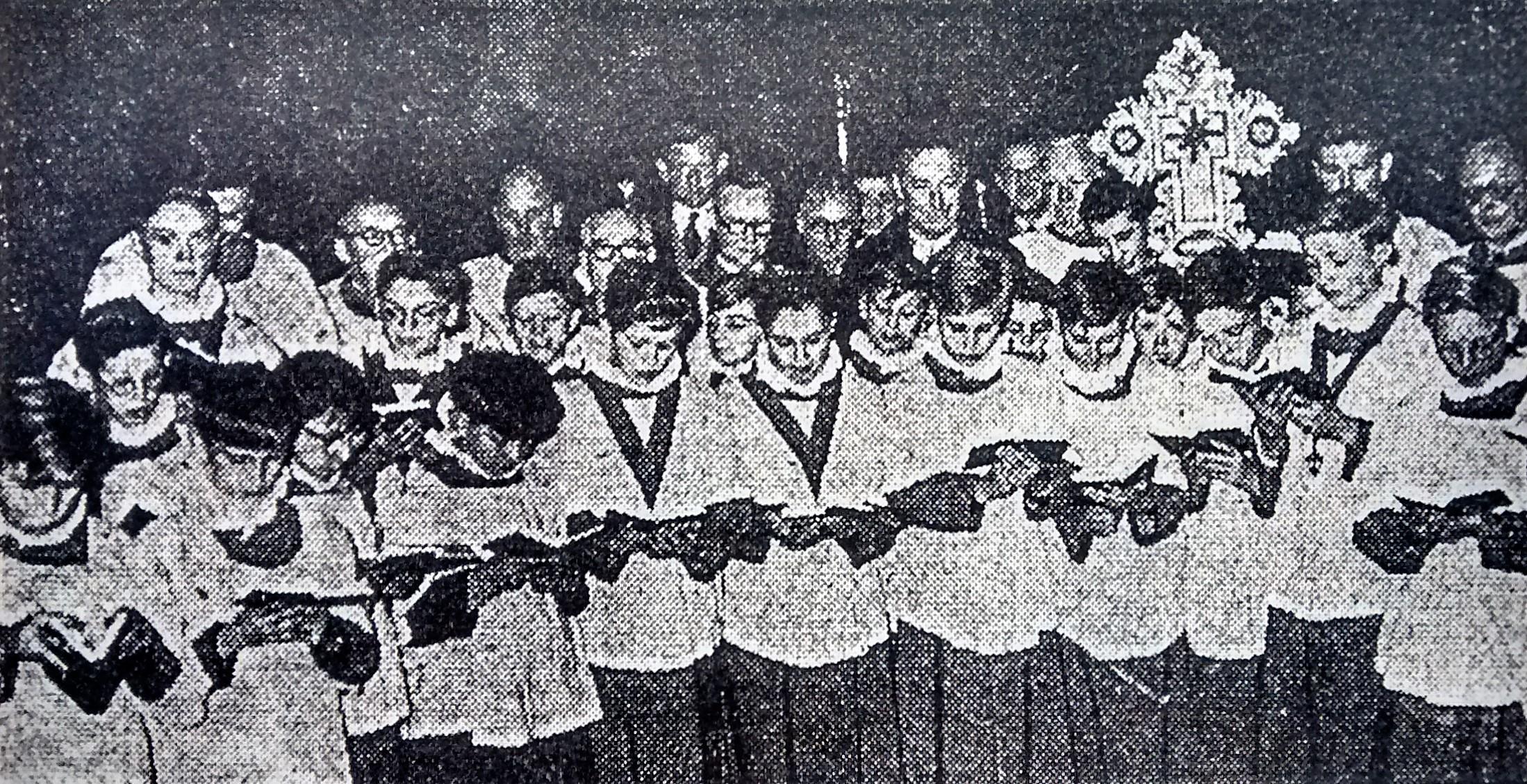 St Helen's Church. Choir photograph from an unknown date.