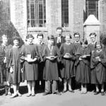 New Lendal Congregation Church. Choir photograph from an unknown date.
